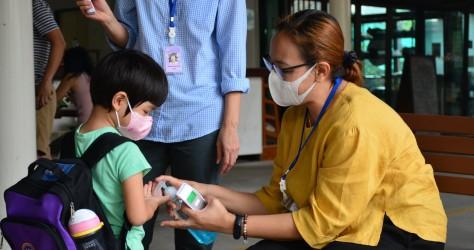 ป้องกันและลดการแพร่ระบาดของโรค โรงเรียนทอสี